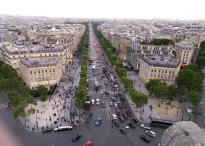 Champs Elysées, Blick vom Arc de Triomphe