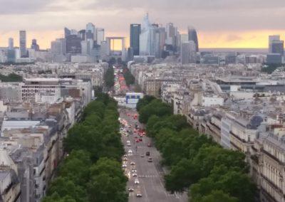 La Défense, Blick vom Arc de Triomphe