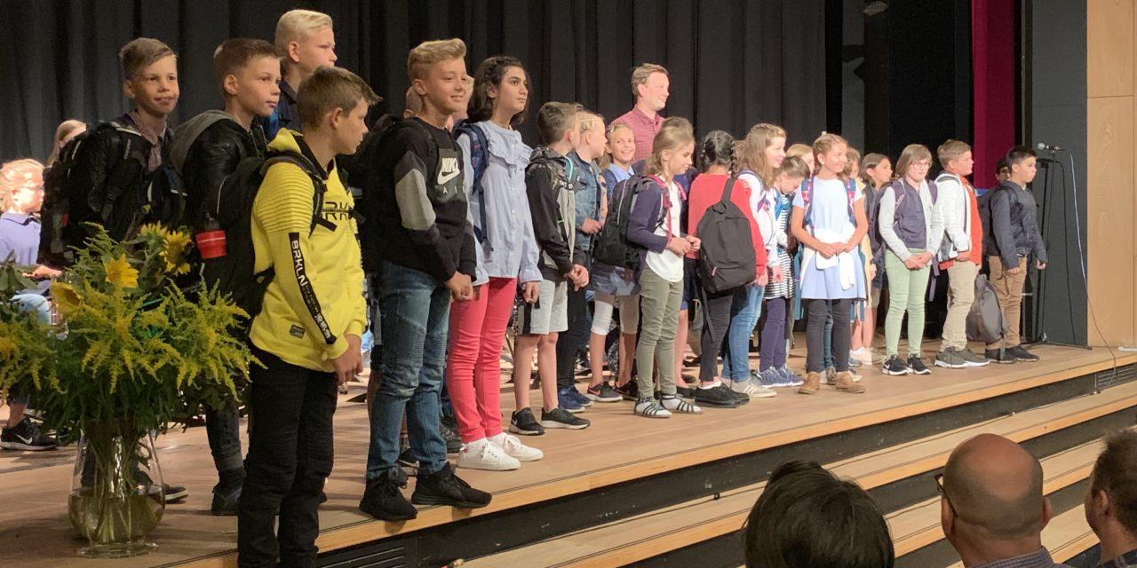 Einschulung in unsere neuen 5. Klassen am 16.8.2019