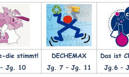 Chemiewettbewerbe 2019/ 2020: die Dinge mal anders sehen und erklären!