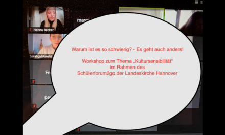 Workshop zum Thema Kultursensibilität