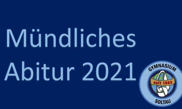 Mündliches Abitur 2021
